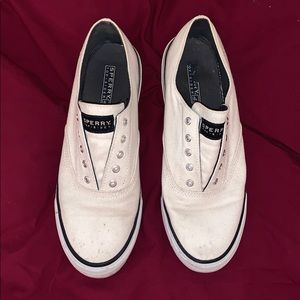 White Sperry's - Size 8 Women's - offers welcome!